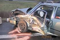 Dopravní nehoda u Veletin.