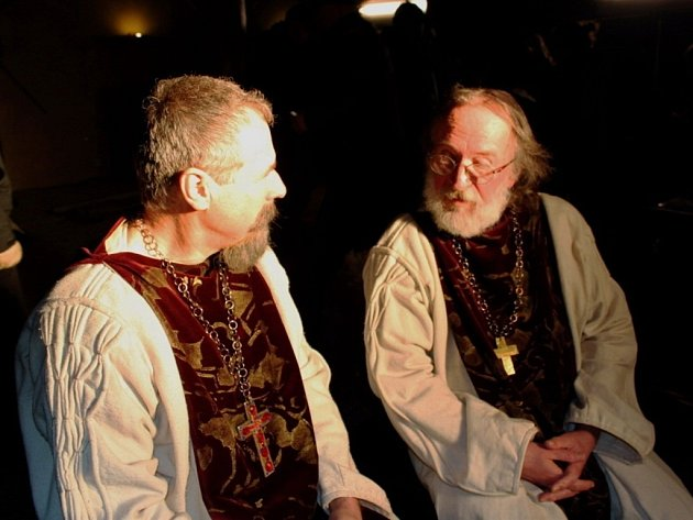 Z natáčení filmu o Cyrilu a Metodějovi. Ilustrační foto.