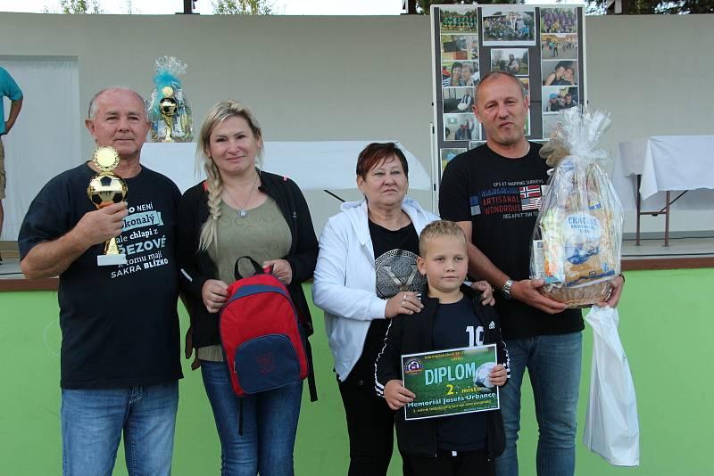 Bývalí hráči Ostrožské Lhoty vyhráli první ročník Memoriál Josefa Urbance.
