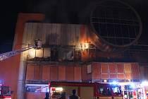 Požár diskotéky ve Slušovicích.