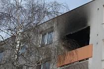 Požár lodžie bytového domu ve Starém Městě