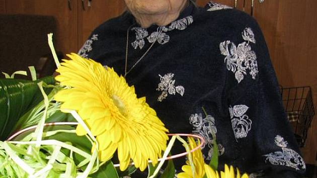 Frieda Táborová oslavila 102 let.