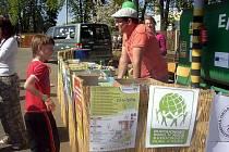 Den Země slavily děti ve Starém Městě v areálu tamní společnosti zabývající se likvidací kovového odpadu.