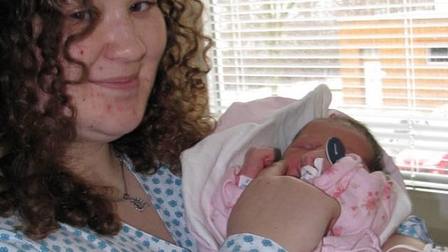 Maminka Kateřina Zetíková s dcerou Kateřinou, která se narodila jako první v novém roce 2009.