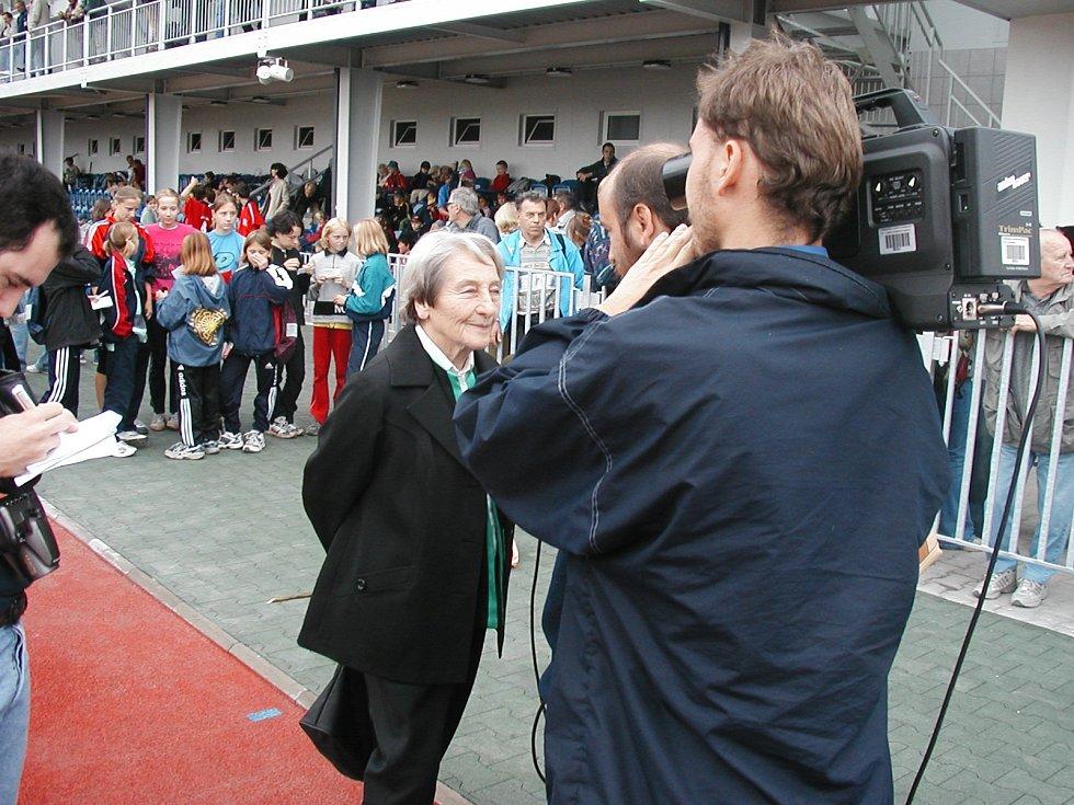 Na Stadionu Dany Zátopkové rozhovor pro televizi TVS