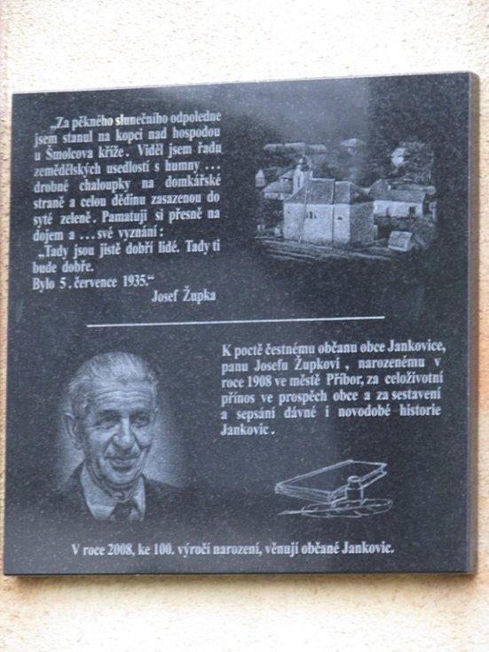 Památka na Josefa Župu.