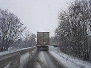 Ve středu 7. února zasypala cesty na Slovácku nová sněhová nadílka.
