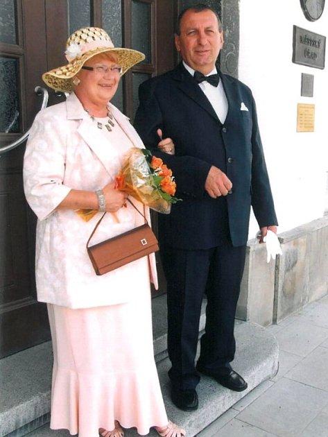 Soutěžní svatební pár číslo 217 - Jindřiška a František Boucníkovi, Lipník nad Bečvou