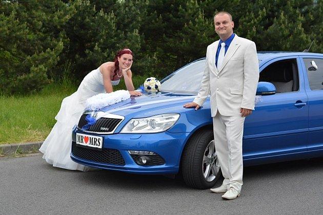 Soutěžní svatební pár číslo 12 - Martina a Jan Krčkovi, Čekyně