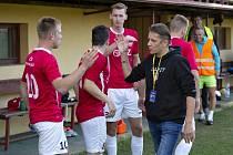 Trenér fotbalistů Uherského Brodu Martin Onda před posledním utkáním s Rosicemi.
