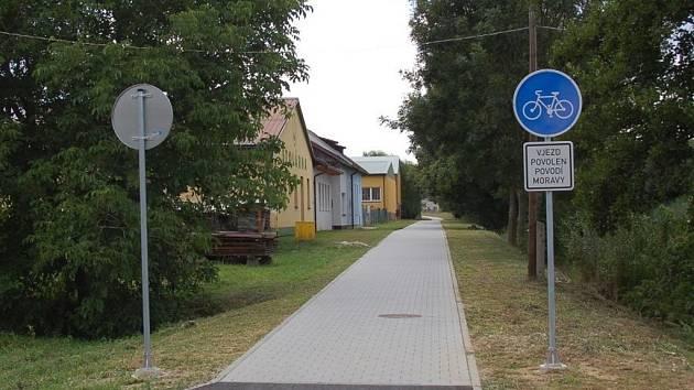 Otevření cyklostezky mezi Boršicemi a Stříbrnicemi.