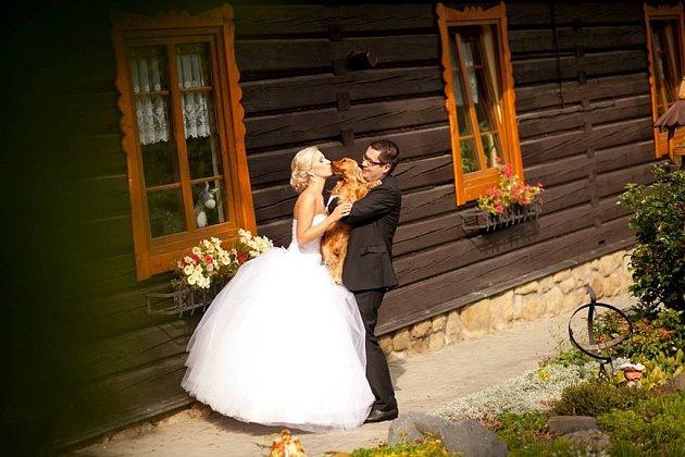 Soutěžní svatební pár číslo 164 - Sandra a Radim Kašparovi, Olomouc.