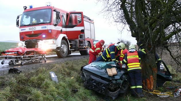 Dopravní nehoda u Fryštáku na Zlínsku.