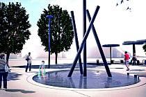 Vizualizace náměstí v Bojkovicích.
