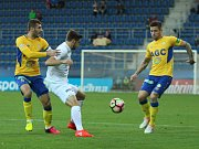 1. FC Slovácko vs. FK Teplice. Zleva Admir Ljevakovič, Marek Havlík a Martin Fillo.