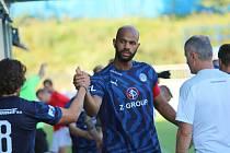 Fotbalisté Slovácka (v modrých dresch) porazili Cracovii 1:0.