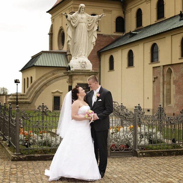 Soutěžní svatební pár číslo 220 - Michaela a Miroslav Snopkovi, Uherské Hradiště.