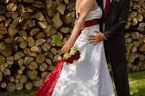 utěžní svatební pár číslo 47 - Magdaléna a Pavel Hanákovi, Kašava.