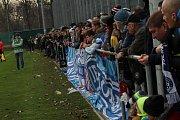 Fotbalisté Slovácka remizovali v nedělním přípravném utkání se slavným Rapidem Vídeň 1:1. Utkání se hrálo na tréninkovém hřišti známého Prátru. Foto: Deník/Stanislav Dufka