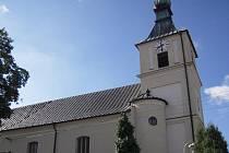 Kostel v Boršicích u Blatnice.