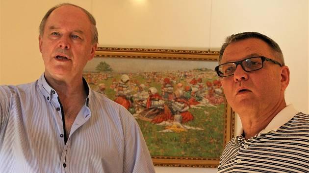 Návštěva ministra kultury Lubomíra Zaorálka v Galerii Joži Uprky.
