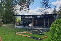 V plamenech v Bzové v Bojkovicích uhořelo devět včelstev. Škoda 100 tisíc korun.