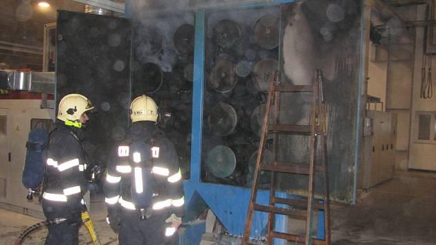 Požár ve výrobní hale v Ostožské Nové Vsi.