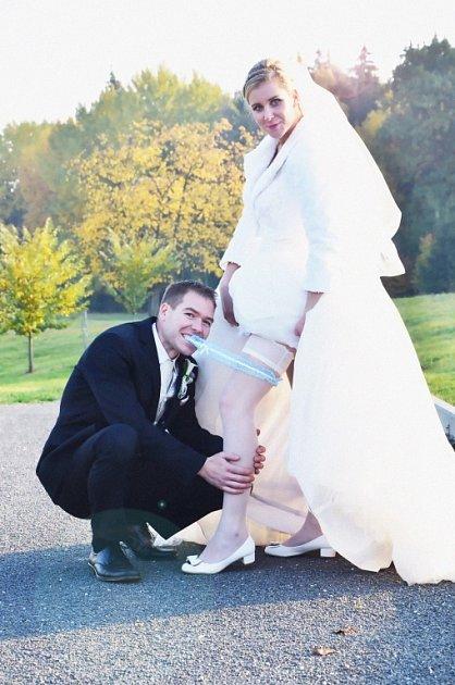 Soutěžní svatební pár číslo 168 - Simona a Jan Odstrčilovi, Velký Újezd