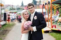 Soutěžní svatební pár číslo 7 – Zuzana a Luděk Petrlovi, Fryšták.