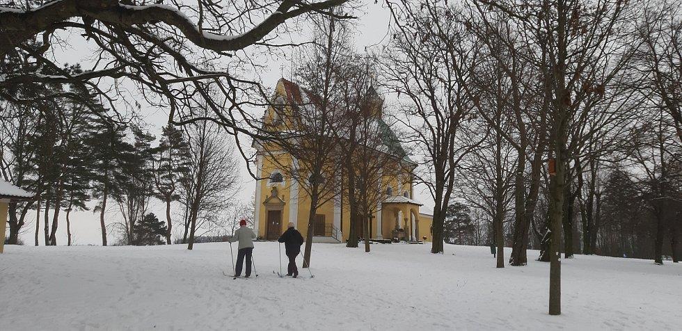Běžkaři na Svatém Antonínku.