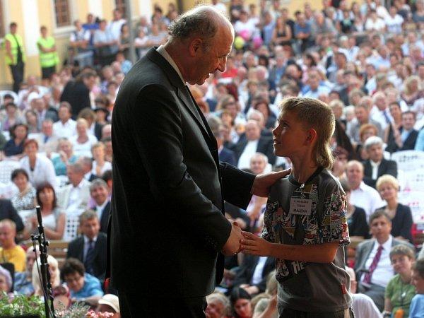 Koncert lidí dobré vůle ve Velehradě - Arcibiskup Jan Graubner