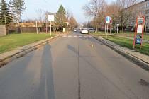Na ulici Větrná v Uherském Hradišti došlo ke střetu dívky a vozidla Škoda Yeti.