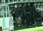 Fotbalisté 1. FC Slovácko (v bílém) porazili FK Mladá Boleslav 2:1.
