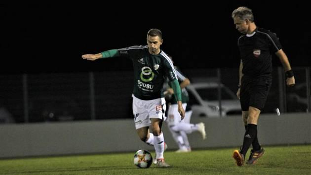 Bývalý záložník ligového Slovácka Tomáš Ťok nyní hraje v rakouském Mistelbachu.