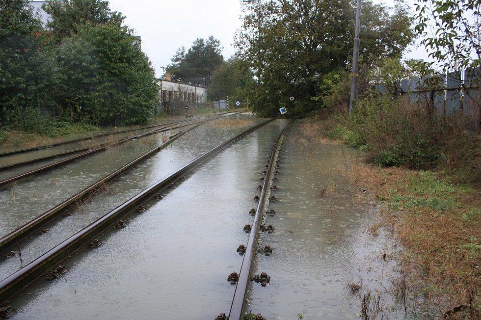 Uherský Brod, Olšava. Vybudované poldry za Újezdcem či v parku Škrlovec pomáhají část vody zadržet.