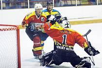 Gólman Uh. Ostrohu Hříbek sice pochytal spoustu šancí rivala z Uh. Brodu, přesto jeho tým odešel z derby poražen.