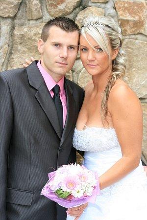 Soutěžní svatební pár číslo 127 - Gabriela a Petr Fajkusovi, Nedakonice.