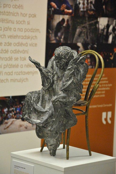 Vernisáž Příběh sochy Otmara Olivy v Turistickém centru na Velehradě.