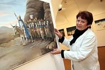 Výstava Pavla Matušky Usmívání ve Slovácké galerii v Uherském Hradišti.
