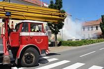 Simulovaný zásah Sboru dobrovolných hasičů v Pitíně.