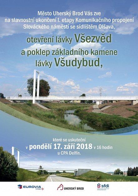 Lávka Všezvěd vUherském Brodě - pozvánka na otevření