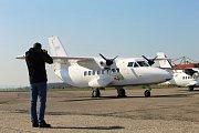 50. výročí prvního vzletu letadla L 410 na letišti v Kunovicích.
