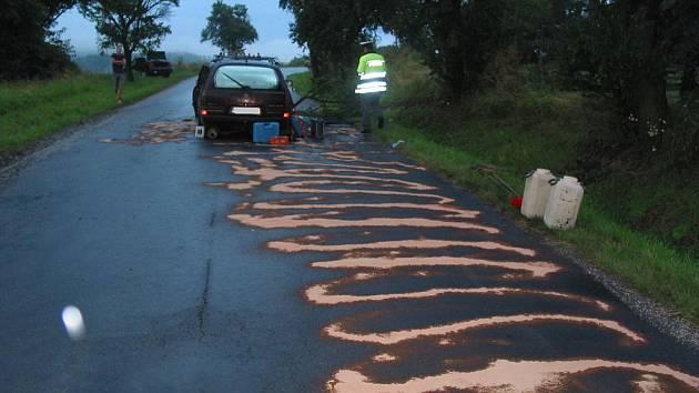 Mladý řidič se zranil při dopravní nehodě v Nivnici.
