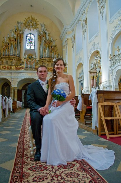 Soutěžní svatební pár číslo 200 - Lucie a Jan Souškovi, Dub nad Moravou