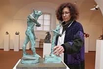 Výstava Peter Oriešek - sochy, kresby ve Slovácké galerii v Uherském Hradišti.