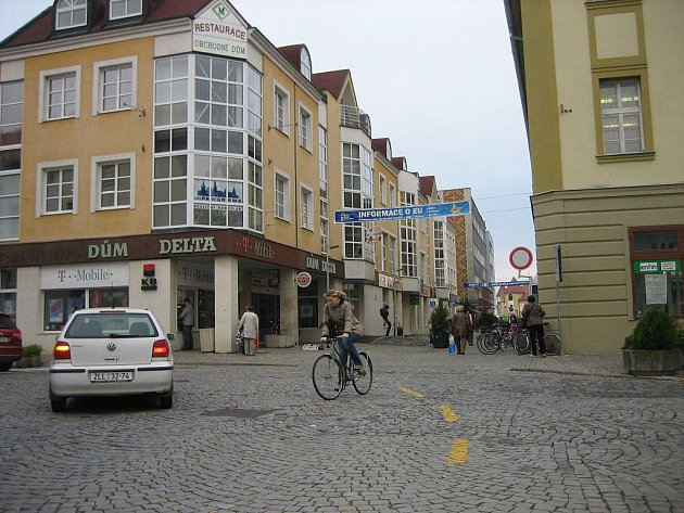 Protzkarova ulice v Uherském Hradišti.