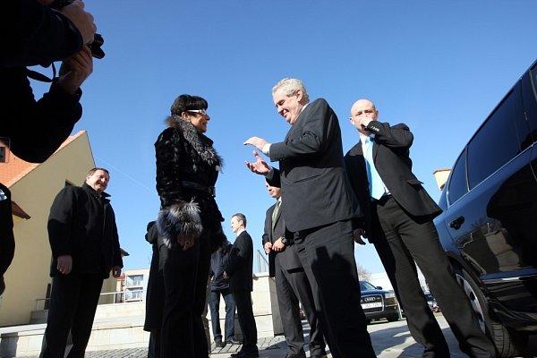Miloš Zeman na krajské konferenci SPOZ vPanském dvoře vKunovicích