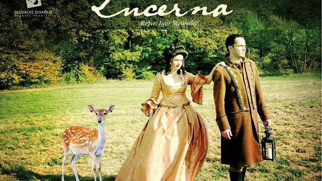 Plaktá divadelní hry Lucerna. Ilustrační foto.