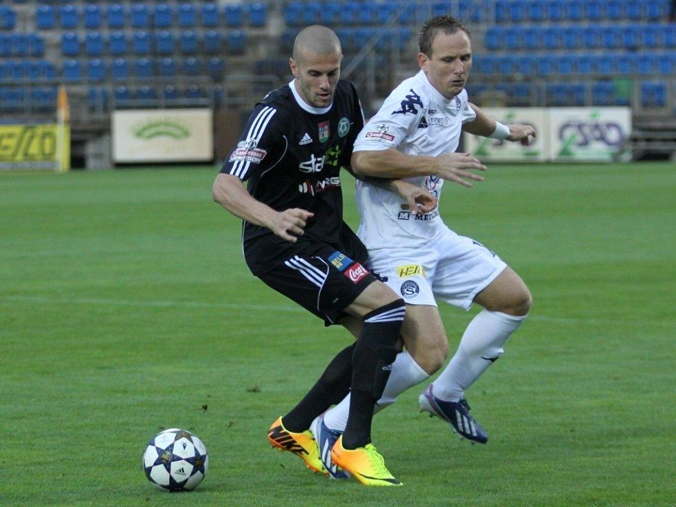 1. FC Slovácko vs. Příbram - Alexandr Andrejevič a Jiří Valenta