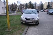 Někteří majitelé automobilů odstavují své vozy kvůli nedostatku parkovacích míst často i na trávník.